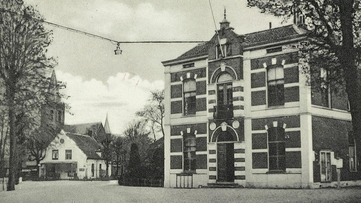 Het eerste gemeentehuis van Houten