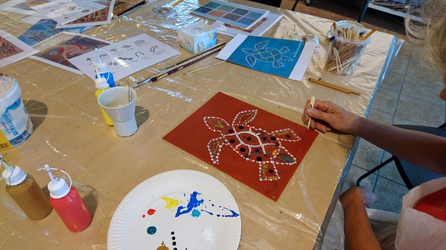 Workshop Aboriginal Schilderen 1 februari 2020